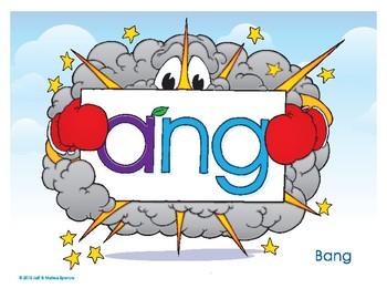 ANG (Bang) Word Buddy Poster