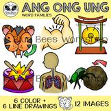 ANG ONG UNG Word Family Clip Art