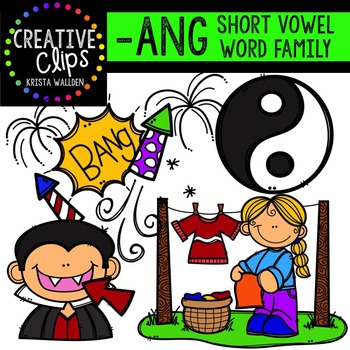 ANG Short A Word Family {Creative Clips Digital Clipart}