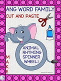"""ANG Word Family """"Cut and Paste"""" (Rhyming Spinner Wheel)"""