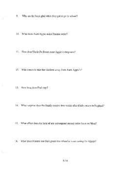 ANGELA'S ASHES CHAPTER 10 COMPREHENSION / QUIZ QUESTIONS