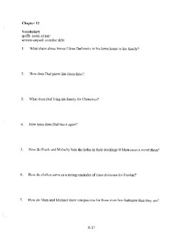 ANGELA'S ASHES CHAPTER 11 COMPREHENSION / QUIZ QUESTIONS