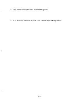 ANGELA'S ASHES CHAPTER 17 COMPREHENSION / QUIZ QUESTIONS