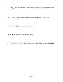 ANGELA'S ASHES CHAPTER 4 COMPREHENSION / QUIZ QUESTIONS