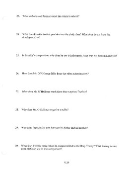 ANGELA'S ASHES CHAPTER 8 COMPREHENSION / QUIZ QUESTIONS