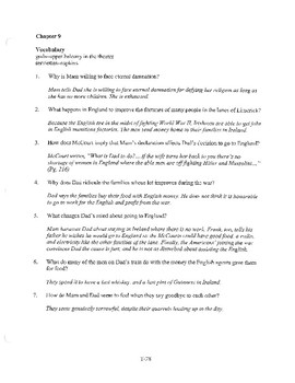ANGELA'S ASHES CHAPTER 9 COMPREHENSION / QUIZ QUESTIONS
