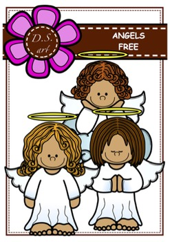 ANGELS - FREE Clipart (color and black&white)