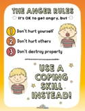 ANGER RULES AND COPING SKILLS (Fillable)
