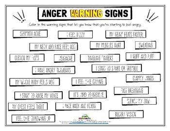 ANGER WARNING SIGNS