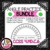 ANGLE BUNDLE: 2 Centers, SCOOT Game, Worksheets, & Assessments CCSS 4.MD.C.6