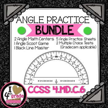 ANGLE BUNDLE: 2 Centers, SCOOT Game, Worksheets, & Assessm