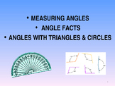 ANGLE FACTS, TRIANGLES AND USING A PROTRACTOR