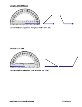 ANGLE MEASUREMENT NOTES & VOCABULARY