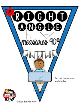 MATH PENNANT ANGLES AND TRIANGLES BANNER AND BULLETIN BOARD