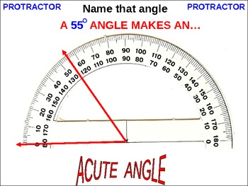 ANGLES:  4th Grade Right, Obtuse, Acute, and Protractor