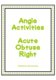 ANGLES Activities - Acute, Obtuse, Right - Geometry