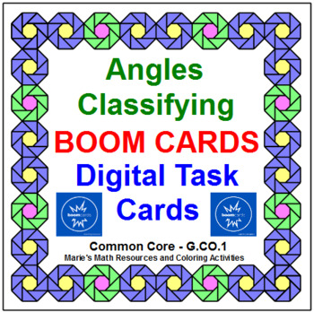 """ANGLES CLASSIFYING: """"DIGITAL"""" BOOM CARDS (60 TASK CARDS)"""