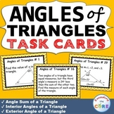 ANGLES OF TRIANGLES  Word Problems - Task Cards {40 Cards}