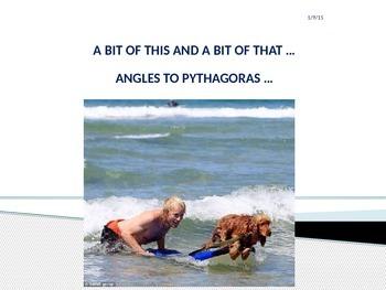 ANGLES TO PYTHAGORAS