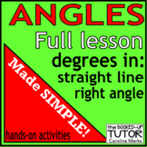 ANGLES made easy for beginners! Right Angle, Circle and Straight line HANDS-ON