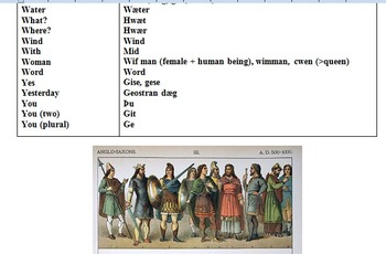 ANGLO-SAXON (OLD ENGLISH) WITH FUN LEARNING ACTIVITIES