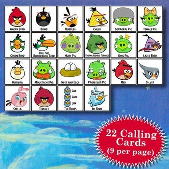 ANGRY BIRDS 4x4 Bingo