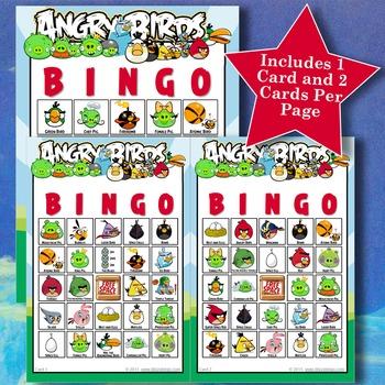 ANGRY BIRDS 5x5 Bingo
