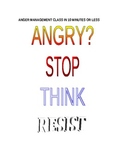 ANGRY? STOP THINK RESIST ANGER MANAGEMENT CLASS