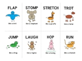 ANIMAL ACTIONS FLASHCARDS