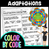 Animal Adaptations Color By Number | Science Color By Number