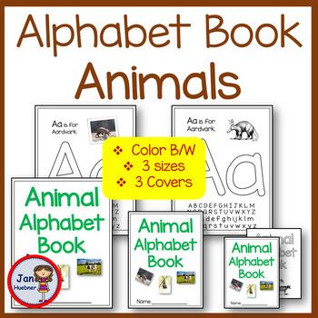 ANIMAL ALPHABET BINDER BOOK