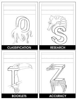 ANIMAL ALPHABET (CARDS SET A-Z) Gr. 2-6