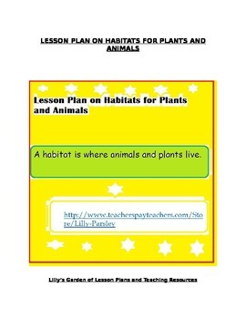 Animal and Plant Habitats Lesson Plan