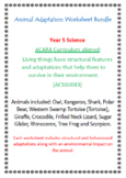 ANIMAL Adaptations Worksheet | BUNDLE