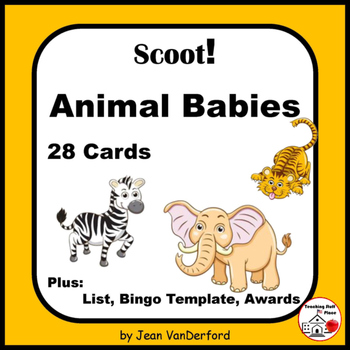 ANIMAL BABIES Names | 28 Colorful Game Cards |Animals and Young| Gr 3-4 CORE