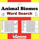 Animal Biomes/Habitats Word Search Worksheets