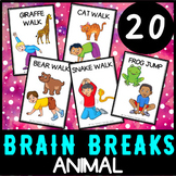 Self Regulation/Sensory: Animal Movement Brain Break Strategy cards