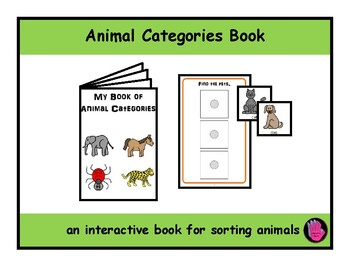 ANIMAL CATEGORIES ADAPTED Velcro BOOK, Speech Therapy, Autism, EET Group