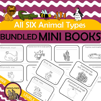 ANIMAL CHARACTERISTICS Mini Books Only