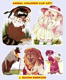 ARTS, ELEMENTARY THEMING: ANIMAL CHILDREN CLIP ART (90 public domain images)