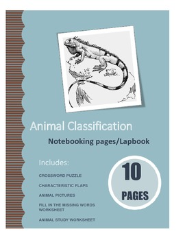 ANIMAL CLASSIFICATION LAPBOOK/NOTEBOOKING PAGES