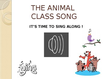 ANIMAL CLASSIFICATION LESSON (with sing-along song)
