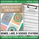ANIMAL DIVERSITY - VERTEBRATES - Demos, Labs and Science Stations