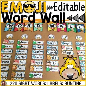 ANIMAL EMOJI THEMED: SIGHT WORDS: DOLCH
