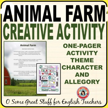 ANIMAL FARM-FUN AND CREATIVE CHARACTER, THEME, AND ALLEGORY ACTIVITY