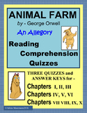 ANIMAL FARM Reading Comprehension Quizzes