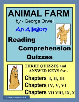 ANIMAL FARM Reading Comprehension Quizzes