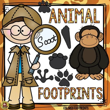 ANIMAL FOOTPRINTS SCOOT: COLORED FOOTPRINTS