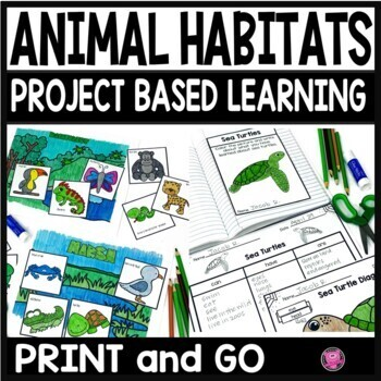 Animal Habitats Set for Kindergarten through Third Grade