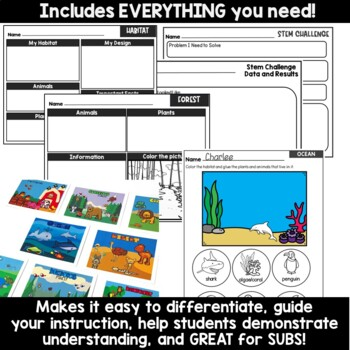 Project Based Learning Animals and Habitats